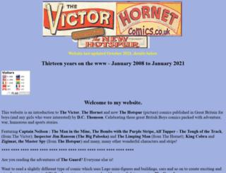 victorhornetcomics.co.uk screenshot