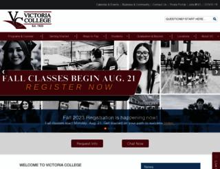 victoriacollege.edu screenshot