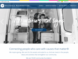 victoriafoundation.bc.ca screenshot