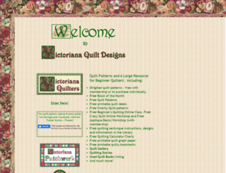 victorianaquiltdesigns.com screenshot
