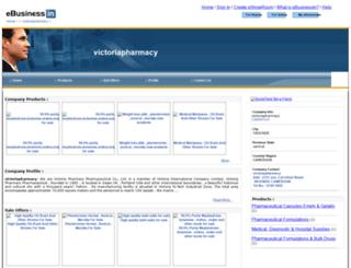 victoriapharmacy.ebusinessin.com screenshot