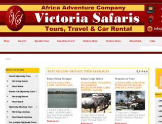 victoriasafaris.co.ke screenshot