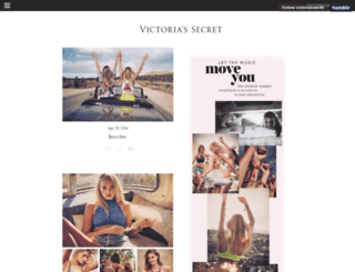 victoriassecret.tumblr.com screenshot