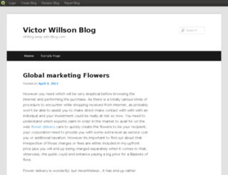 victorwillson.blog.com screenshot