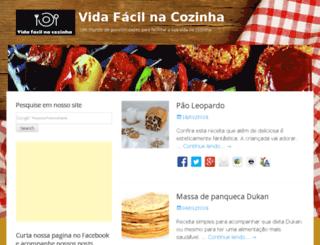 vidafacilnacozinha.com.br screenshot