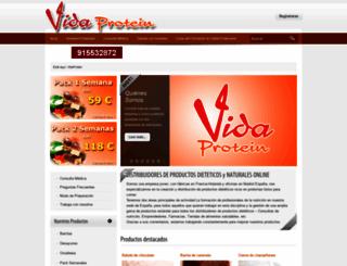 vidaprotein.com screenshot