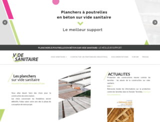 vide-sanitaire.fr screenshot