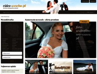 video-weselne.pl screenshot