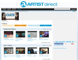 video.artistdirect.com screenshot