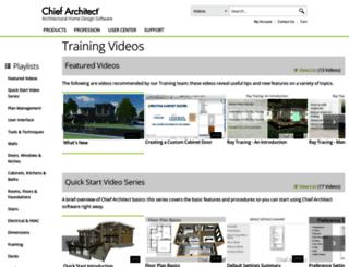 video.chiefarchitect.com screenshot