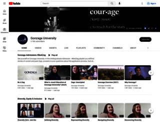 video.gonzaga.edu screenshot