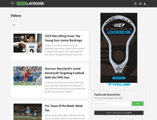 video.insidelacrosse.com screenshot