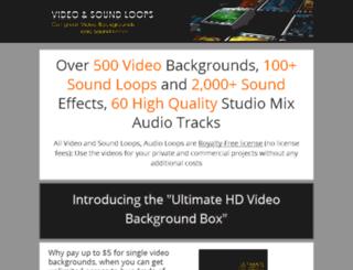 videoandsoundloops.com screenshot