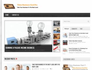 videobusinesscardpro.com screenshot