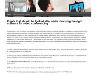 videoconferencingsoftware.snappages.com screenshot