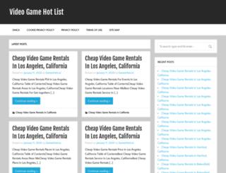 videogamehotlist.com screenshot