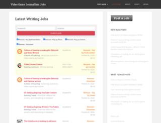 videogamejournalismjobs.com screenshot
