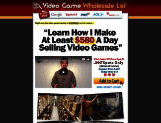 videogamewholesalelist.com screenshot