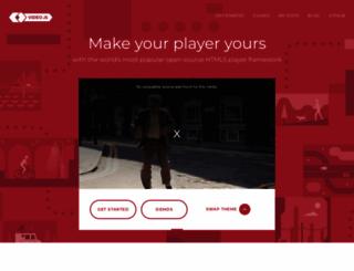 videojs.com screenshot