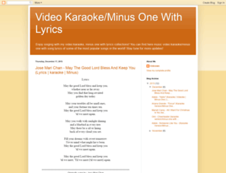 videokeandminusonewithlyrics.blogspot.com screenshot