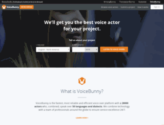 videolean.voicebunny.com screenshot
