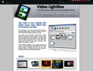 videolightbox.com screenshot