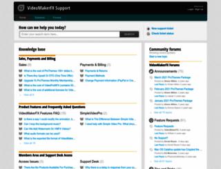 videomakerfx.freshdesk.com screenshot