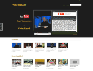 videoreadr.com screenshot