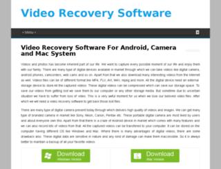 videorecoverysoftware.com screenshot
