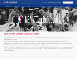 videorulebook.nba.com screenshot