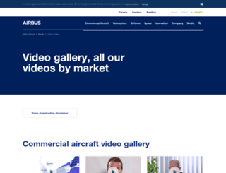 videos.airbus.com screenshot