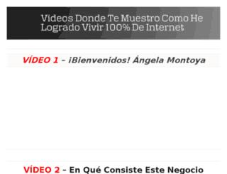 videos.angelamontoya.com screenshot