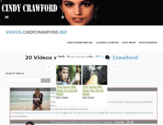 videos.cindycrawford.biz screenshot