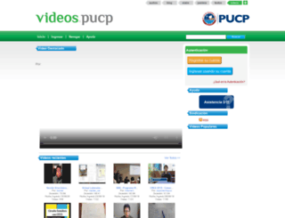 videos.pucp.edu.pe screenshot