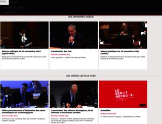 videos.senat.fr screenshot