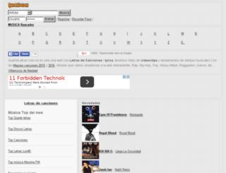 videosdemusica.quedeletras.com screenshot