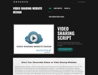 videosharingwebsitedesign.weebly.com screenshot