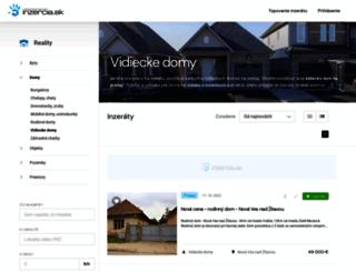 vidiecke-domy.inzercia.sk screenshot
