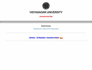 vidyasagar.ac.in screenshot