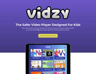 vidzy.io screenshot