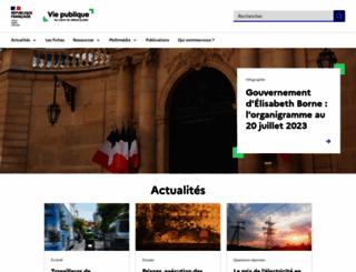 vie-publique.fr screenshot