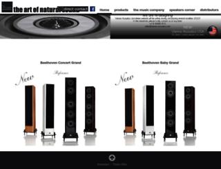 vienna-acoustics.com screenshot