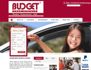 vietnambudgetcarrental.com screenshot