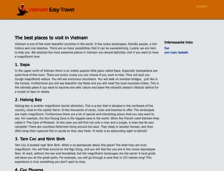 vietnameasytravel.com screenshot