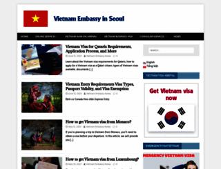 vietnamembassy-seoul.org screenshot