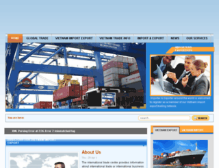 vietnamexportsimports.com screenshot