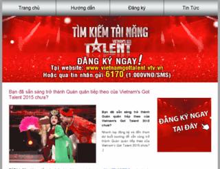 vietnamgottalent.vtv.vn screenshot