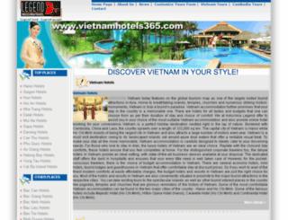 vietnamhotels365.com screenshot