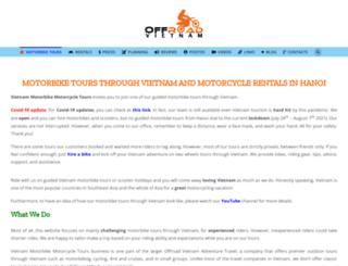 vietnammotorbikemotorcycletours.com screenshot