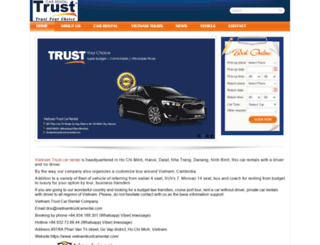 vietnamtrustcarrental.com screenshot
